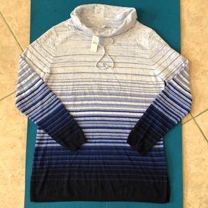 NWT Talbots lightweight stripe sweater